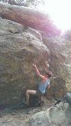 Rock Climbing Photo: Kyle hitting the sidepull