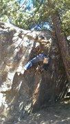 Rock Climbing Photo: Darren on the patina crimps