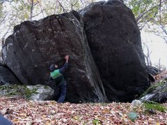 Rock Climbing Photo: Aaron Parlier showing the first hold off of the st...