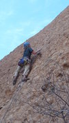 Rock Climbing Photo: Nearing the transition to the upper slab, on Sophi...