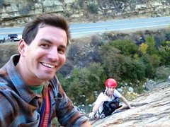Rock Climbing Photo: Zach Margulis and Nick Mudd at P1 belay