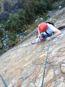 Rock Climbing Photo: Nick Mudd below P1