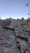Rock Climbing Photo: Looking up Ending Crack
