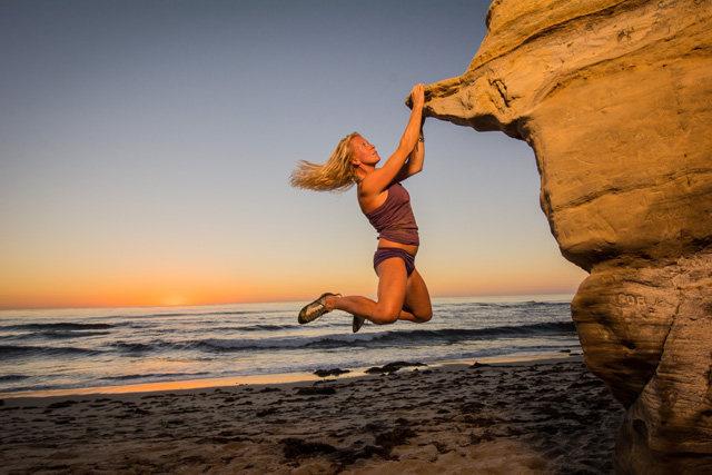 Where else but San Diego?  My friend Kelly Kropko at the beach.