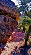 Rock Climbing Photo: Soup Sandwich problem on Ruin Rock.