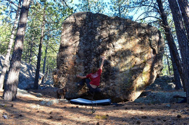 Rock Climbing Photo: The first move out right