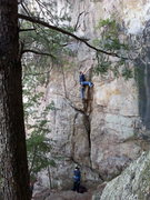 Rock Climbing Photo: Practice Wall  Unknown (Right of So It Goes)(5.5) ...