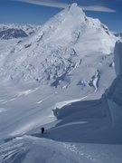 Rock Climbing Photo: Skiing the North Face of Rime Peak with Ahtna Peak...