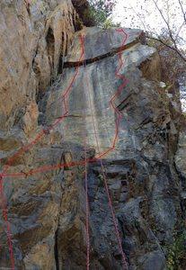 Rock Climb Crackalicious Birdsboro Quarry