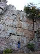 Rock Climbing Photo: Practice Wall   Brick In The Wall (5.10d X) trad  ...