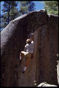 Rock Climbing Photo: In memory of Lou.  Crimson Cringe Simulator '86.