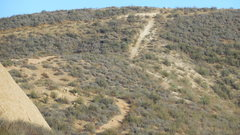 Rock Climbing Photo: The circuitous trail from the parking area, down t...