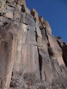 "Rock Climbing Photo: Josh on ""Burning Man"", Upper Wall. Dec. ..."