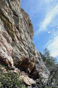 Rock Climbing Photo: EDIT: The far left end of the crag (Routes: Kiss I...