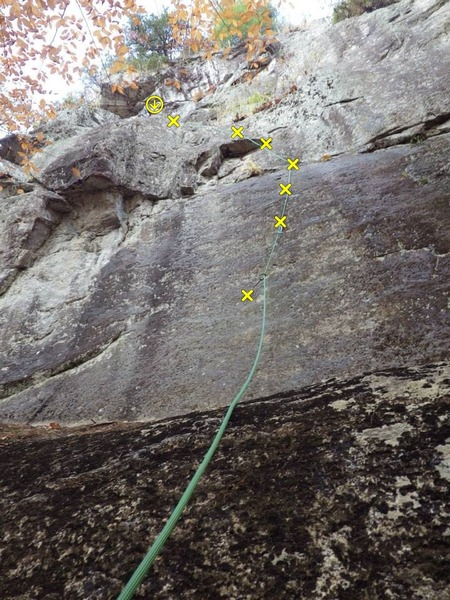 Rock Climbing Photo: Here's the line on A Gaggle Of Geese. (Not hard to...