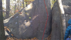 Rock Climbing Photo: Climb the right slab.