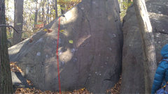 Rock Climbing Photo: Climb the left side of the slab.
