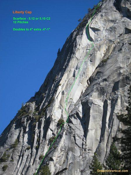Rock Climbing Photo: Scarface Photo Overlay