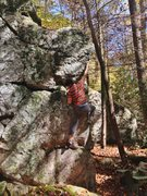 Rock Climbing Photo: close to the top on the arete
