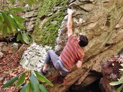 Rock Climbing Photo: Slapping up the arete