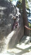 Rock Climbing Photo: Jon Hartmann heading out right