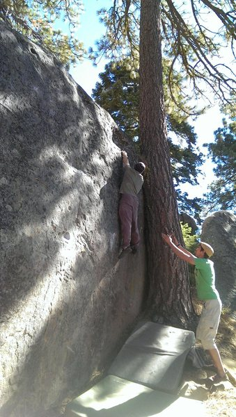 Rock Climbing Photo: Jon Hartmann getting to the top while Sean Crozier...