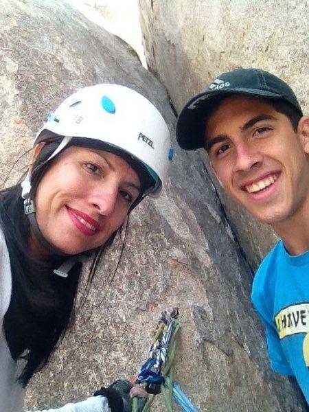 Rock Climbing Photo: Anchor on P2