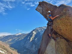 Rock Climbing Photo: Summiting the Thumb. Scariest 5.5 out there.