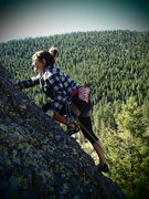 Rock Climbing Photo: Emma leading Phil.