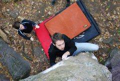 Rock Climbing Photo: Clay eyeing up the next crimp