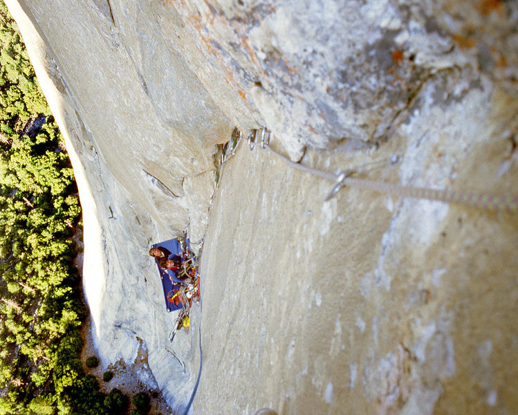 Rock Climbing Photo: Doug McDonald and Ed Sampson hanging out.
