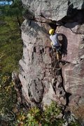 Rock Climbing Photo: Eric, near the top