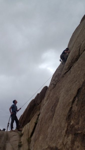 Rock Climbing Photo: Bo and Andrew working it.