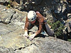 Rock Climbing Photo: Tom Michael on Slim Pickins crux section.