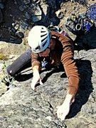 Rock Climbing Photo: Tom Michael on Slim Pickins crux.