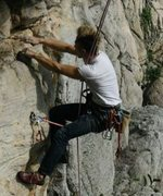 Rock Climbing Photo: cleaning
