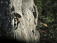 Rock Climbing Photo: Tom Michael starting up Old Grey Mare to Crack of ...
