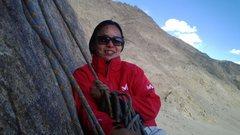 Rock Climbing Photo: Kunzes hangin at the second anchor