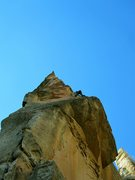 Rock Climbing Photo: C.Kirk on P1