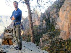 Rock Climbing Photo: C.Kirk taking in the summit