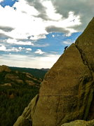 Rock Climbing Photo: Tony on pitch 4