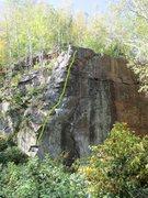 Rock Climbing Photo: KYG takes the arete