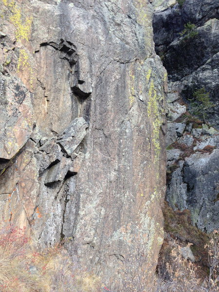 Rock Climbing Photo: Lower part of the wall with what I believe the thr...