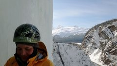 Rock Climbing Photo: Myself getting ready for the second pitch on Hung ...