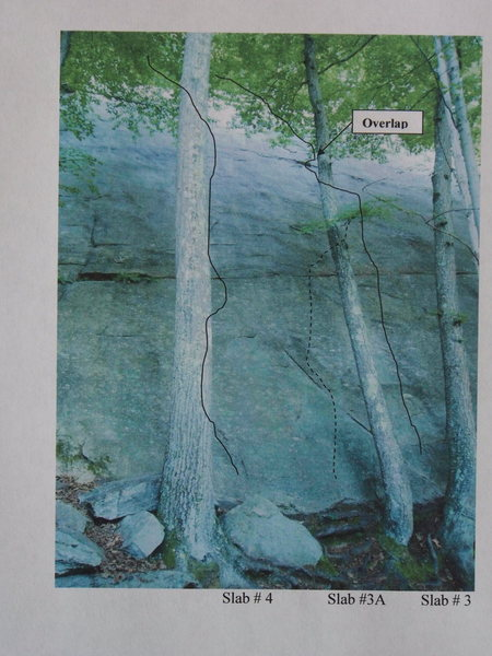 Rock Climbing Photo: Towards the left side of Super Slab. The far left ...