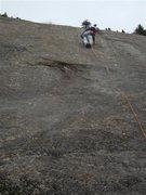 "Rock Climbing Photo: R.Hall on ""Old Smokey's Return"" The Gold..."
