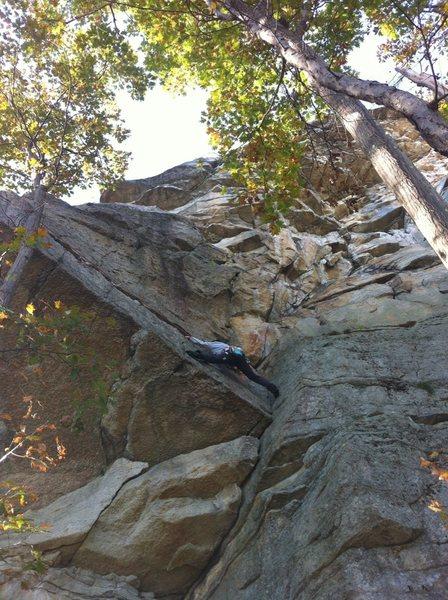 Rock Climbing Photo: one way to start the traverse