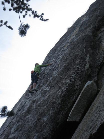 Rock Climbing Photo: Rick on Free Lance