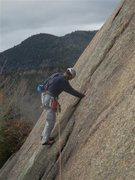 "Rock Climbing Photo: R. Hall starts up ""False Holy Smoke"" usi..."