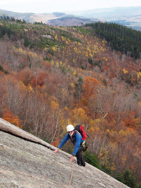 "Rock Climbing Photo: Doug Burnell near the top of ""The Old Smokey'..."